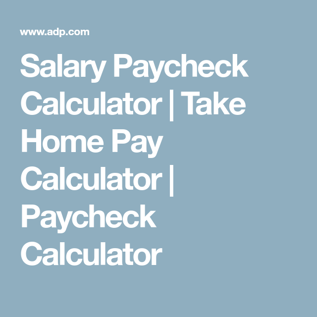 salary pay check calculator