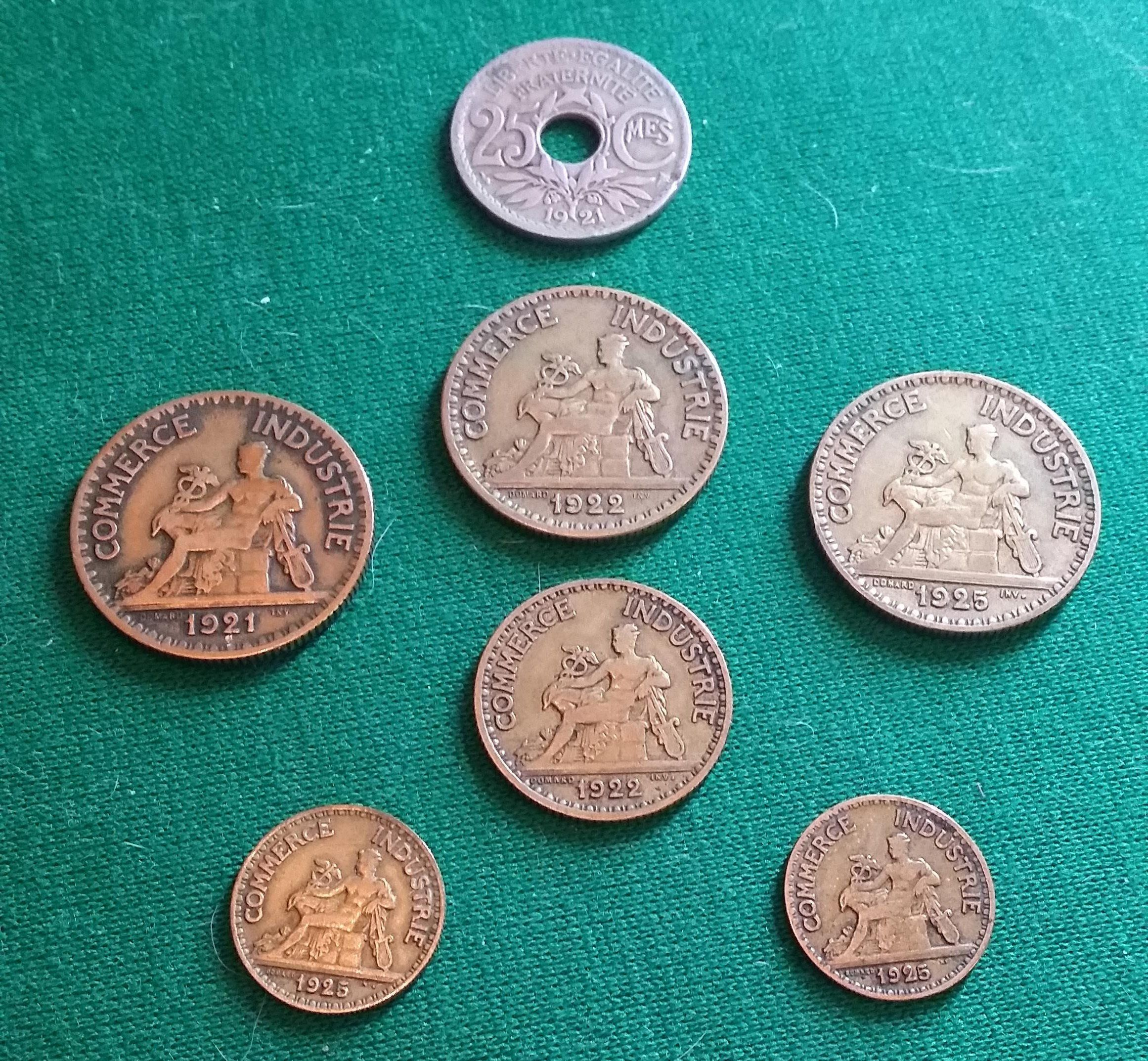 Coins Stock Francia Anni 20 Di Collezionandoelbet Su Etsy Monete