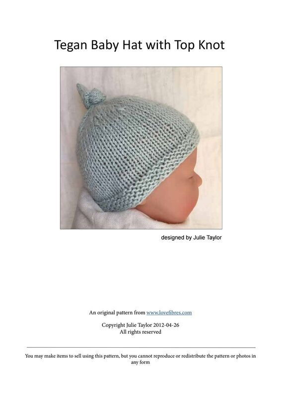 Shared with Dropbox | Tegan Baby Hat with Top Knot.pdf | Pinterest ...