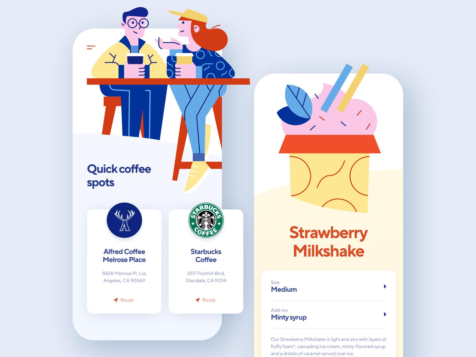 Coffee Shop App Coffee Shop Shopping App Milkshake