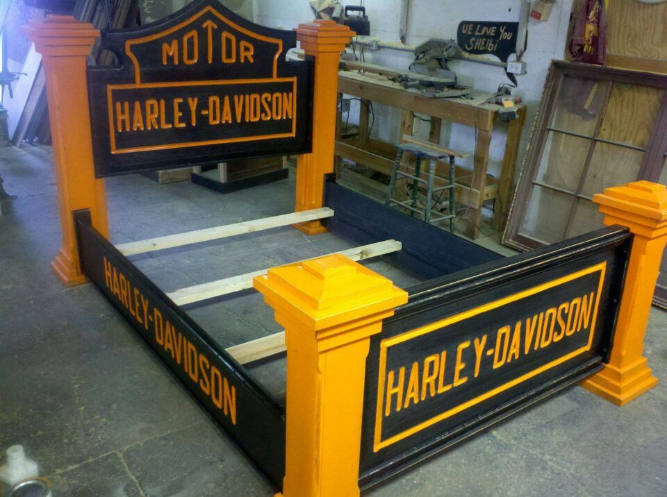 harley davidson wood bed pinned by chris stroud