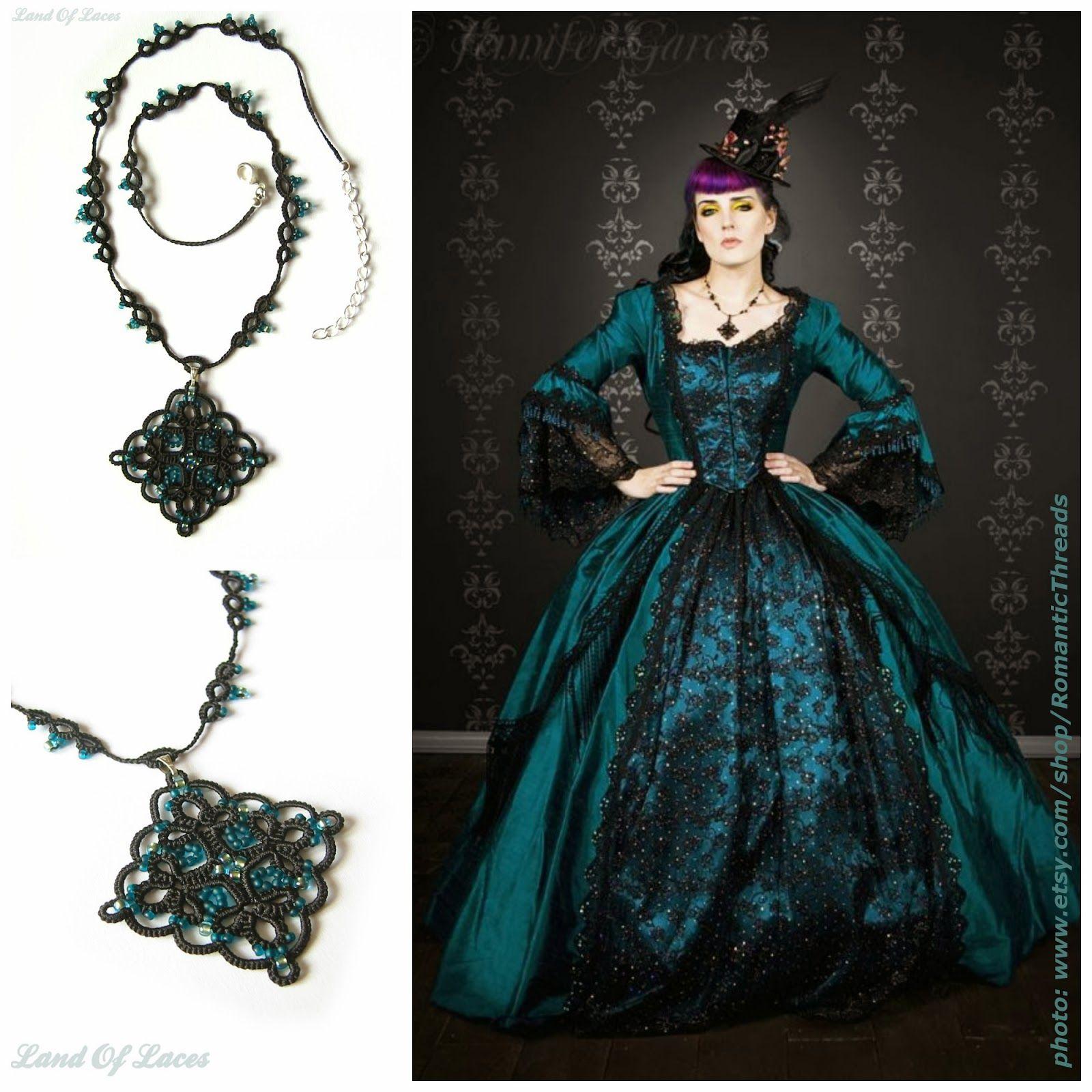 LandOfLAces+Teal+Diamond+Necklace+colage.jpg (1600×1600)