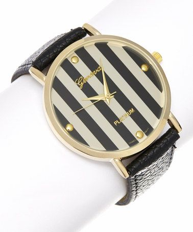This Black Stripe Watch is perfect! #zulilyfinds $12.99
