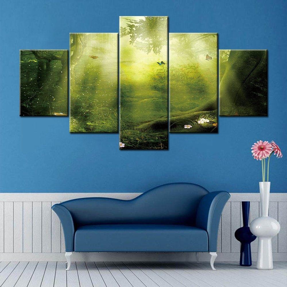 Sunshine Forest Print Split Canvas Wall Art Paintings Cheap Canvas Wall Art Canvas Wall Art Set Cheap Wall Art