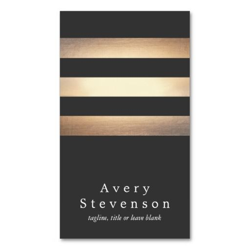 Cool black and gold striped modern vertical black business card cool black and gold striped modern vertical black business card templates make your own business reheart Gallery