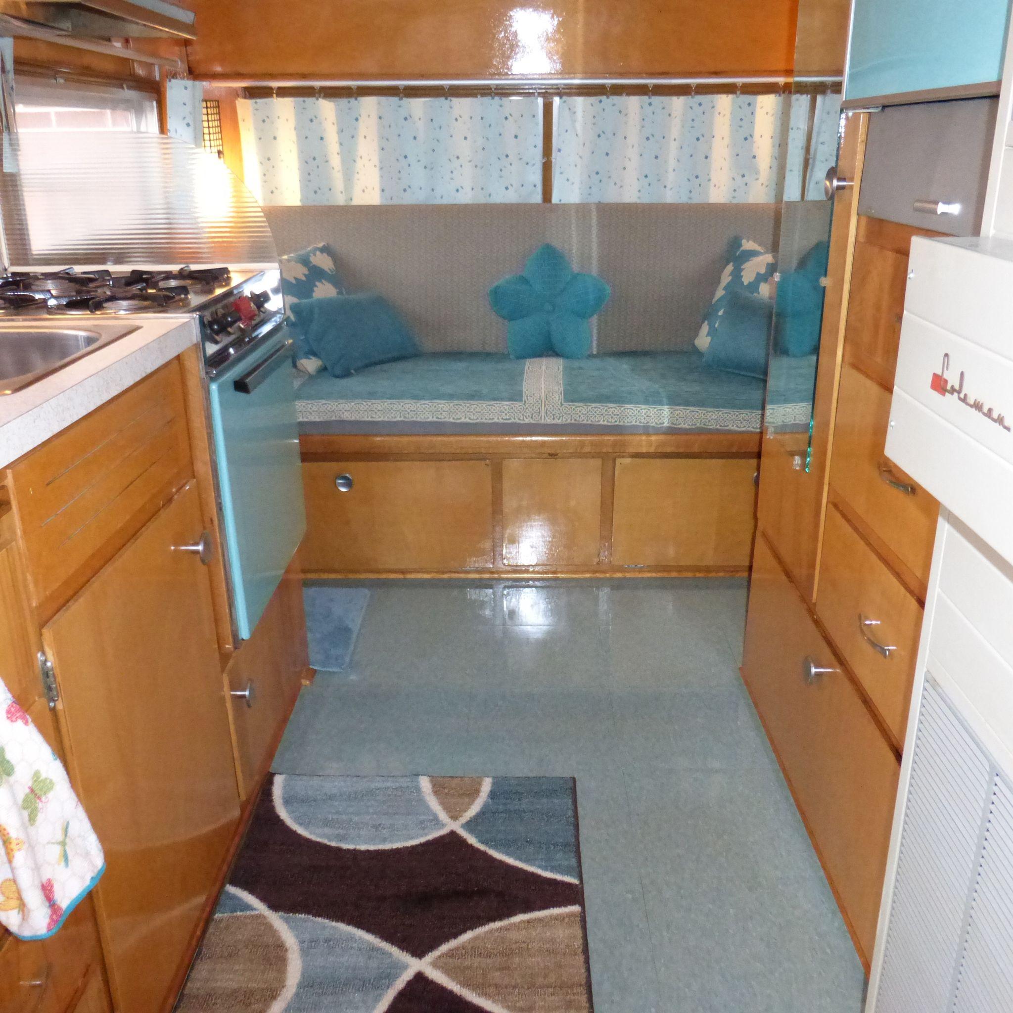 New floor 1965 holiday rambler vct tile installation vintage new floor 1965 holiday rambler vct tile installation dailygadgetfo Choice Image