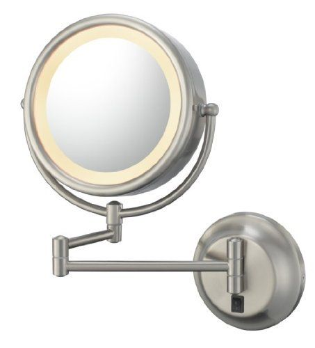 Kimball Young Lighted Reversible 5x 1x Hardwired Makeup Mirror By