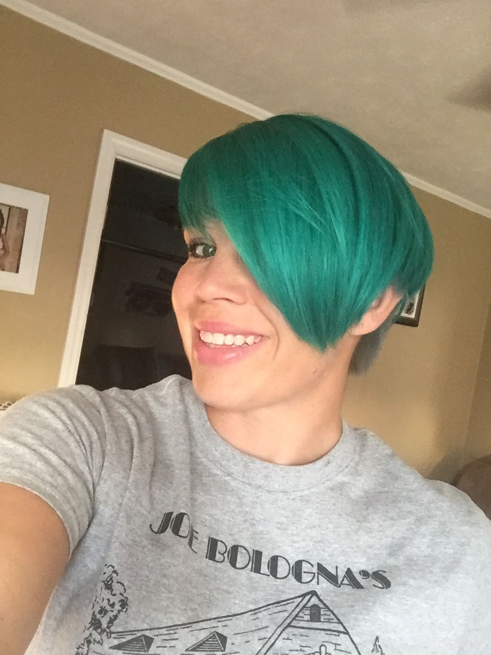 Teal hair aquaticssmoke long pixie beautify pinterest teal