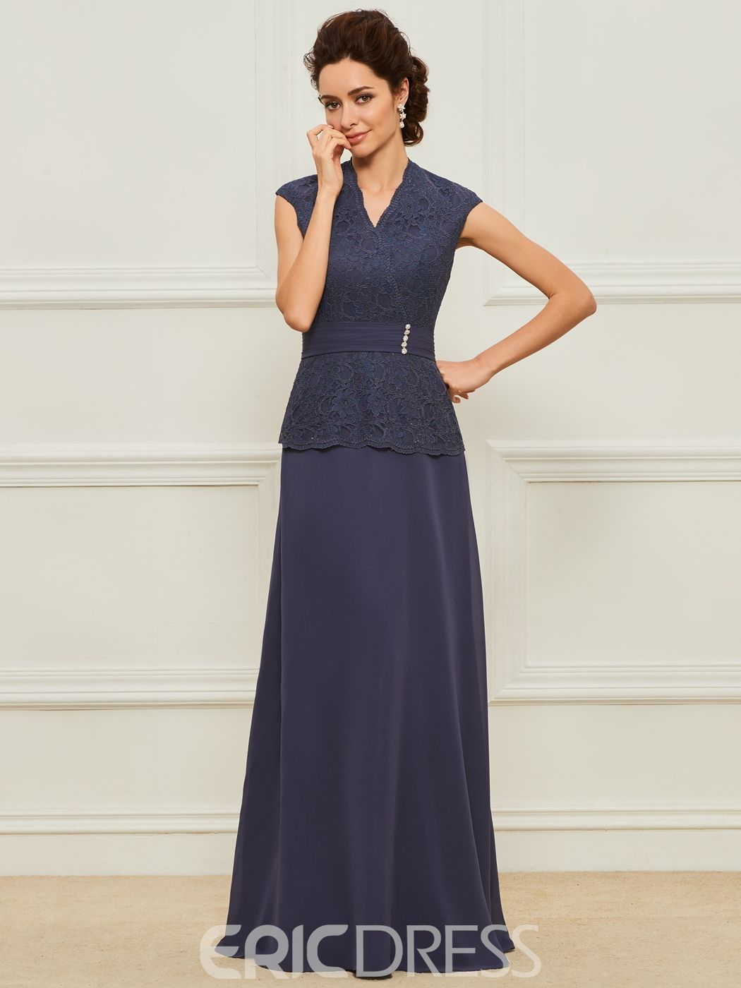 Mother dresses for fall wedding  Lace A Line Long Mother of the Bride Dress  Mother of the Bride