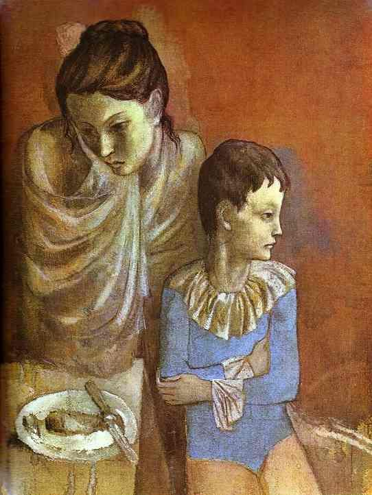 Tumblers Mother and Son, 1905 - by Picasso