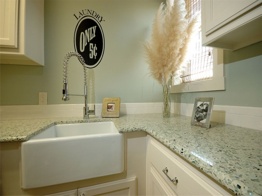 Recycled glass worktop Kitchen ideas Pinterest Kitchens and House