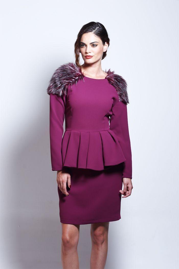 Vestido Peplum Marsala Talia | Pinterest | Vestidos de fiesta cortos ...