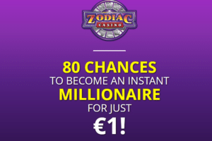 Zodiac Casino New Players 80 Free Spins For 1 480 Match Deposit Bonus Casino Spinning Mega Moolah