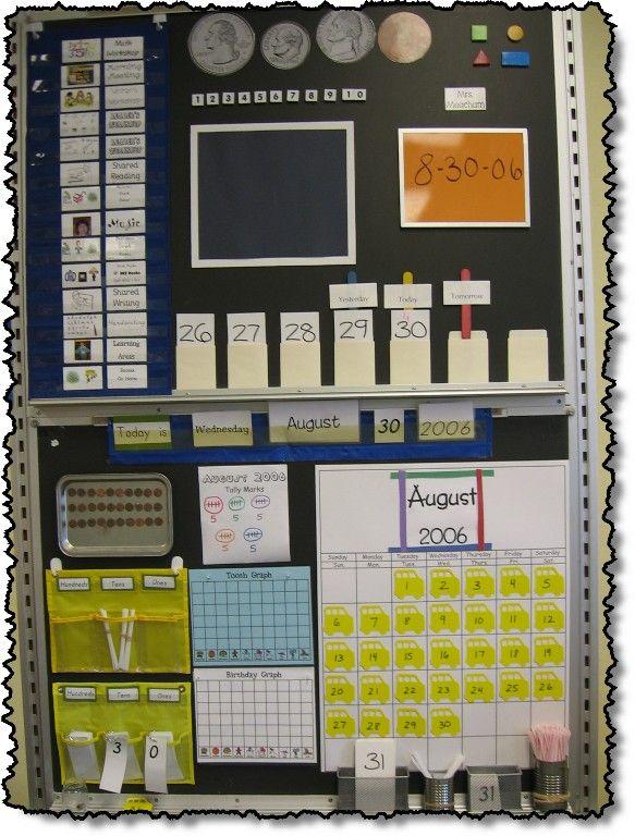 Calendar Math Notebook to keep kids engaged during calendar time