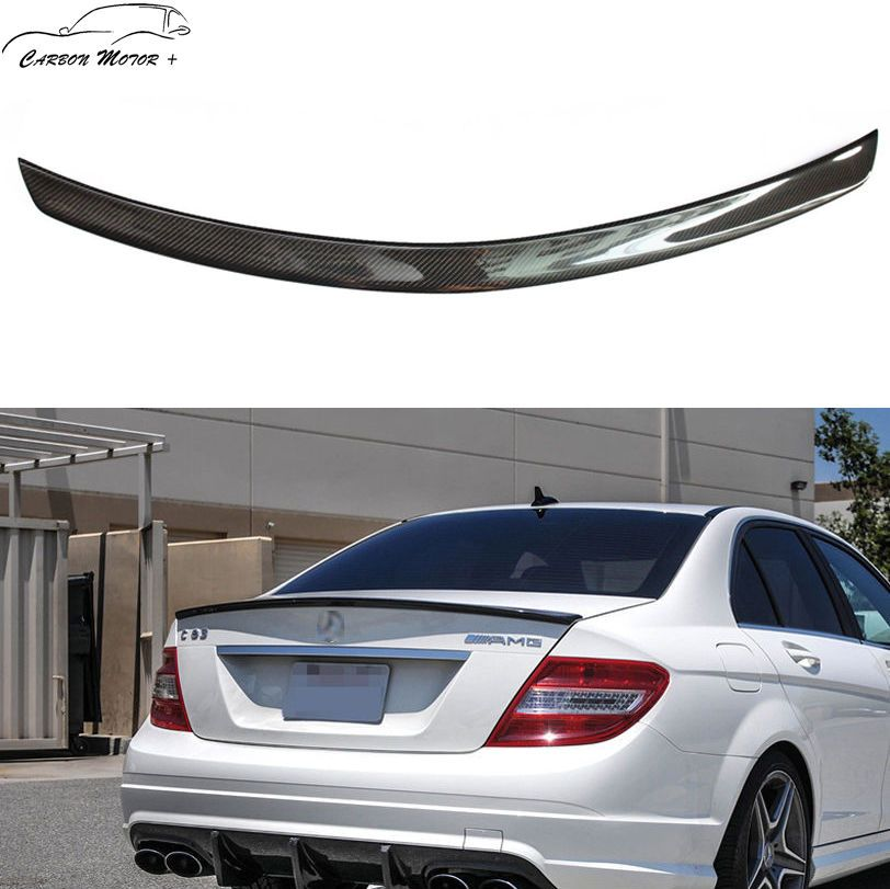 Carbon Fiber Rear Spoiler For 2008 14 Mercedes W204 C180 C200 C250 C63 Amg Sedan Carbon Fiber Mercedes Carbon Fiber Spoiler