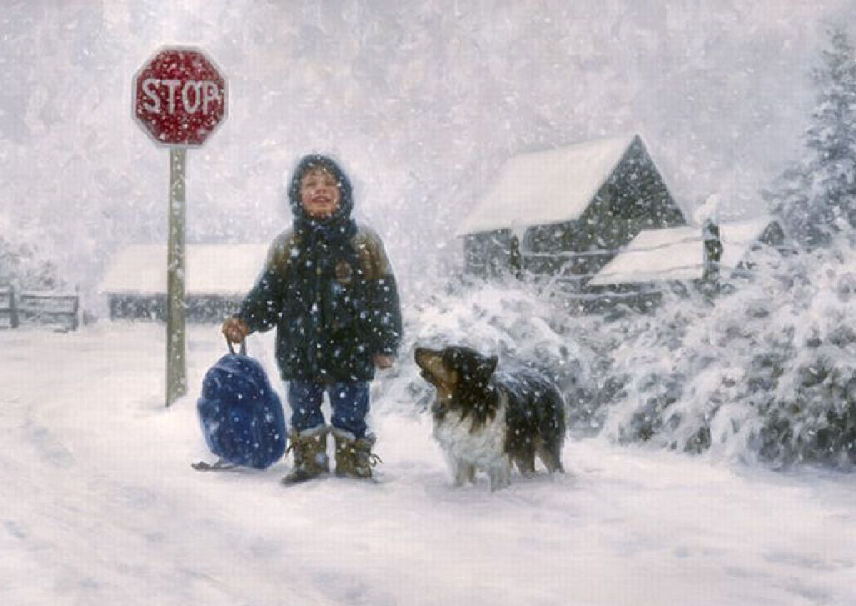Catching Snowflakes Robert Duncan Charming Children