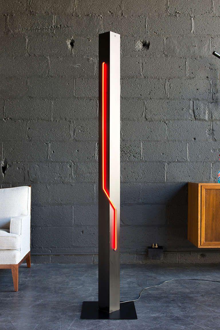 Black Tower Neon Lamp By Rudi Stern 1stdibs Com Neon Lamp Floor Lamp Kids Floor Lamp