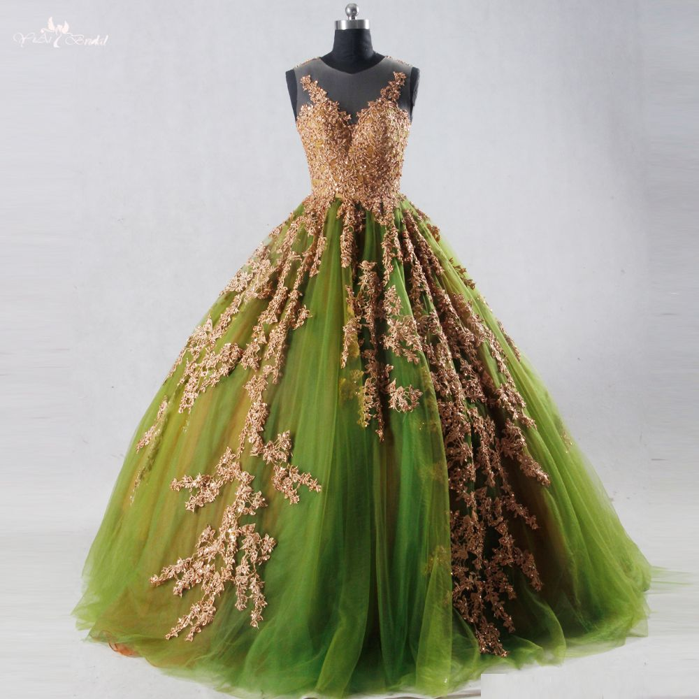 Click to buy ucuc rse real pictures yiaibridal sleeveless emerald
