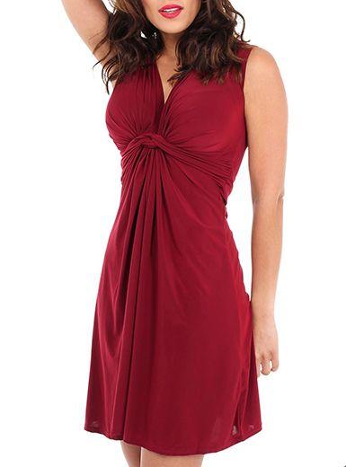 2a02087c6a89 Sleeveless Front Knot Dress - Empire Waist / V Neck | My style ...