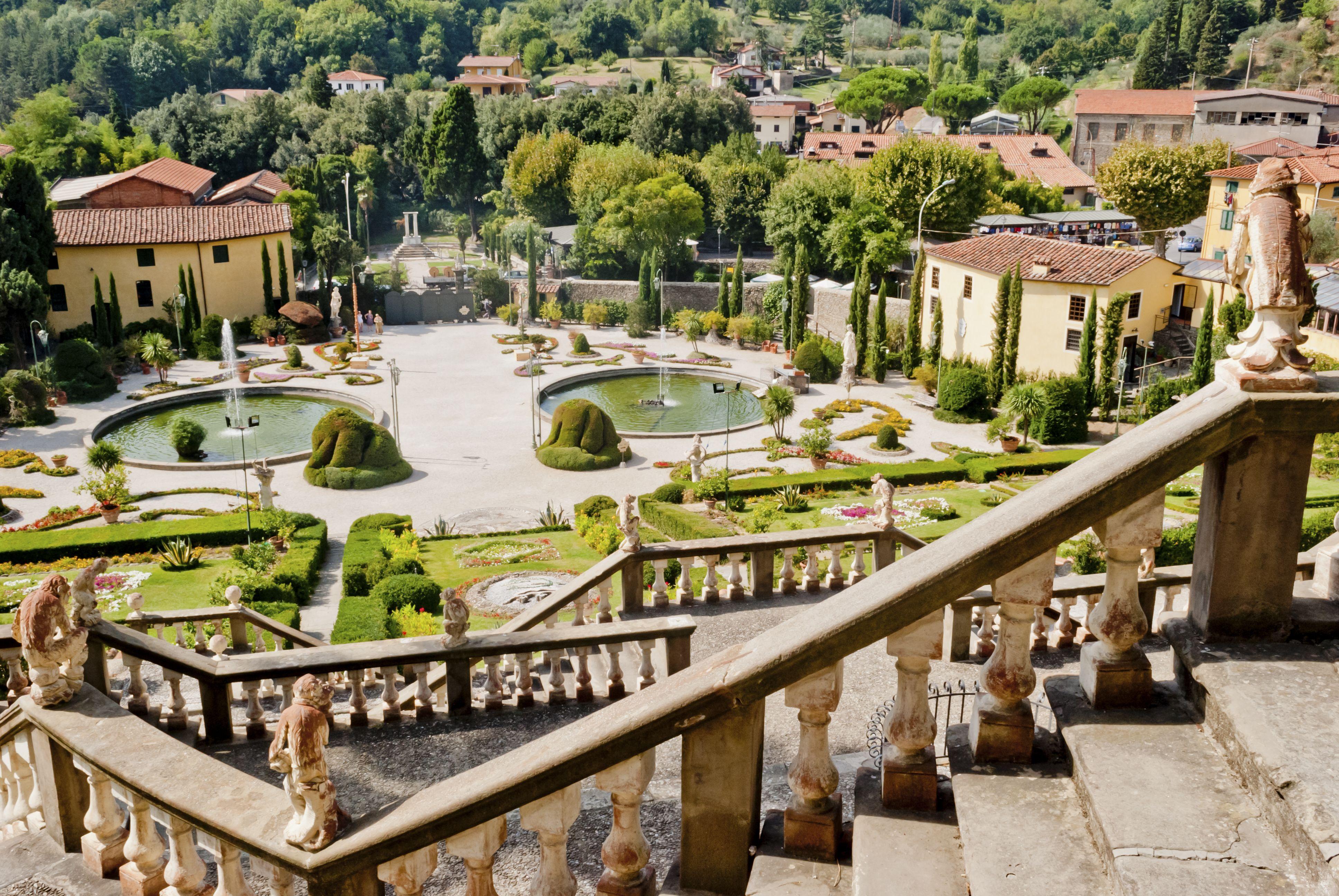 Der Garten der Villa Garzoni in Collodi / Toskana