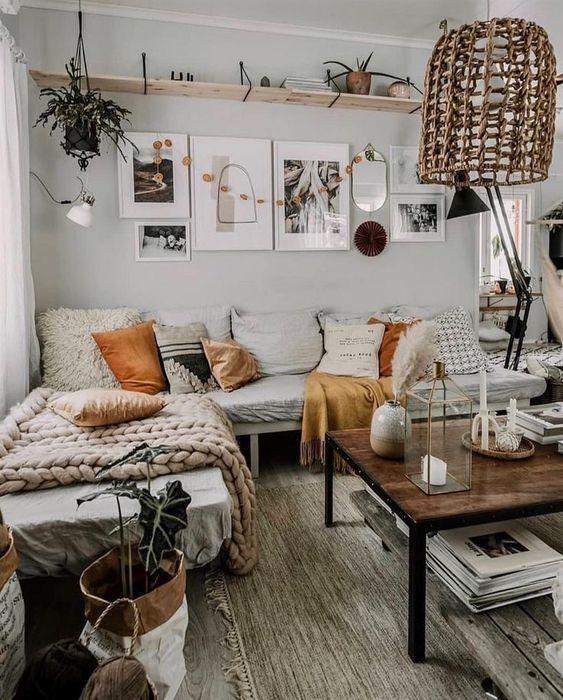 Photo of Boho Scandinavian living room
