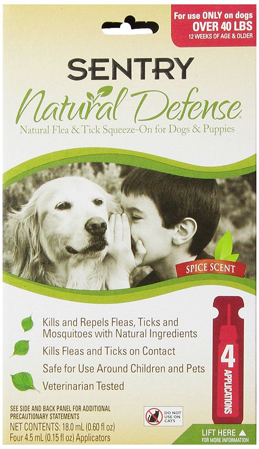 Sentry Natural Defense Flea and Tick SqueezeOn for Dogs