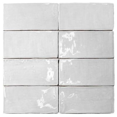Ivy Hill Tile Catalina White 3 In X 6 In X 8 Mm Polished Ceramic Subway Wall Tile 5 38 Sq Ft Case Ext3rd101710 The Home Depot White Subway Tile Backsplash Splashback Tiles Ceramic Wall Tiles