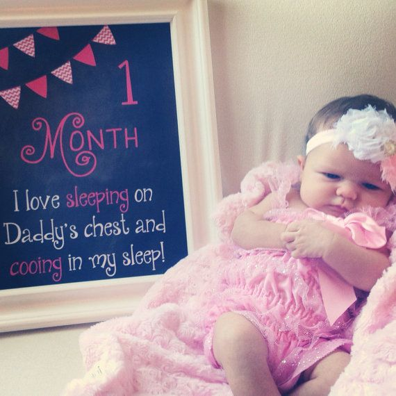 Baby's First Year Monthly Chalkboard Photo Prop Sign