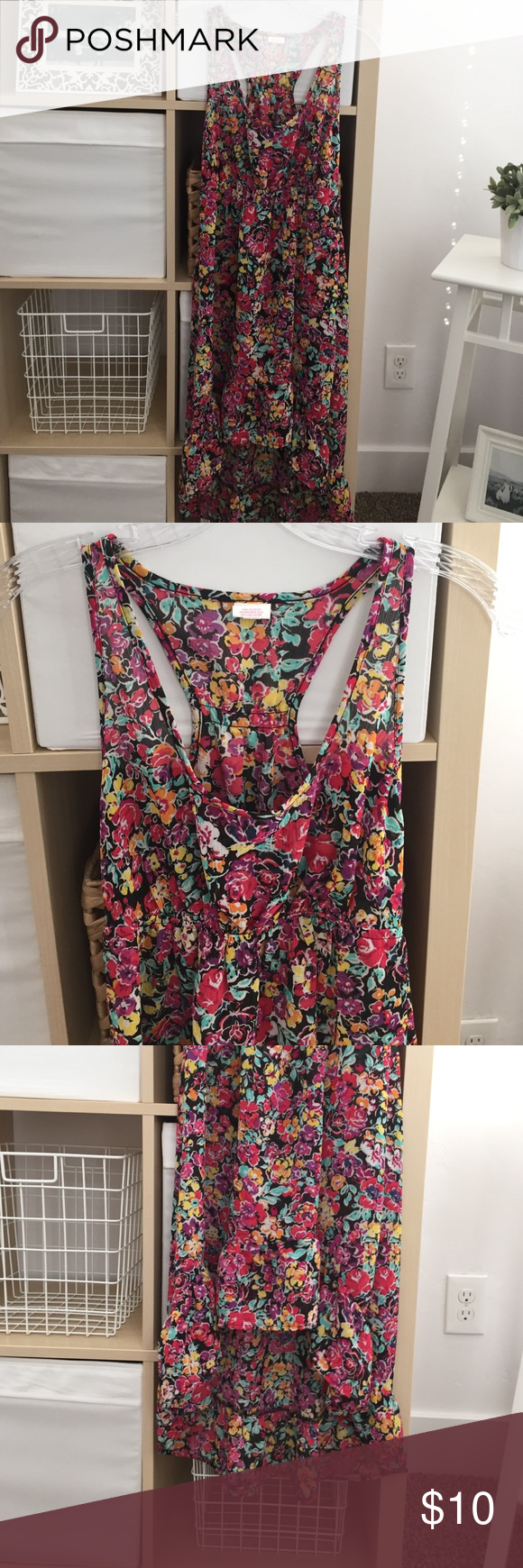 Swim Cover Up Floral cover up, semi sheer and high-low. Never been worn! Xhilaration Dresses High Low