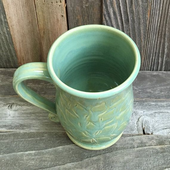 Handmade floral ceramic mug by TheMotherPotter on Etsy