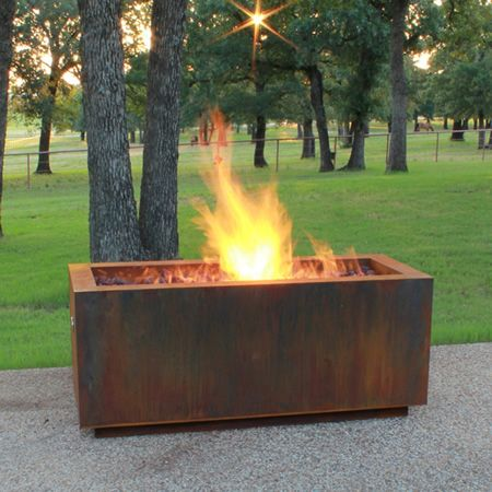 Basa Fia 48 Linear Gas Fire Pit With Fireglass Pan Rectangular Fire Pit Fire Pit Custom Fire Pit