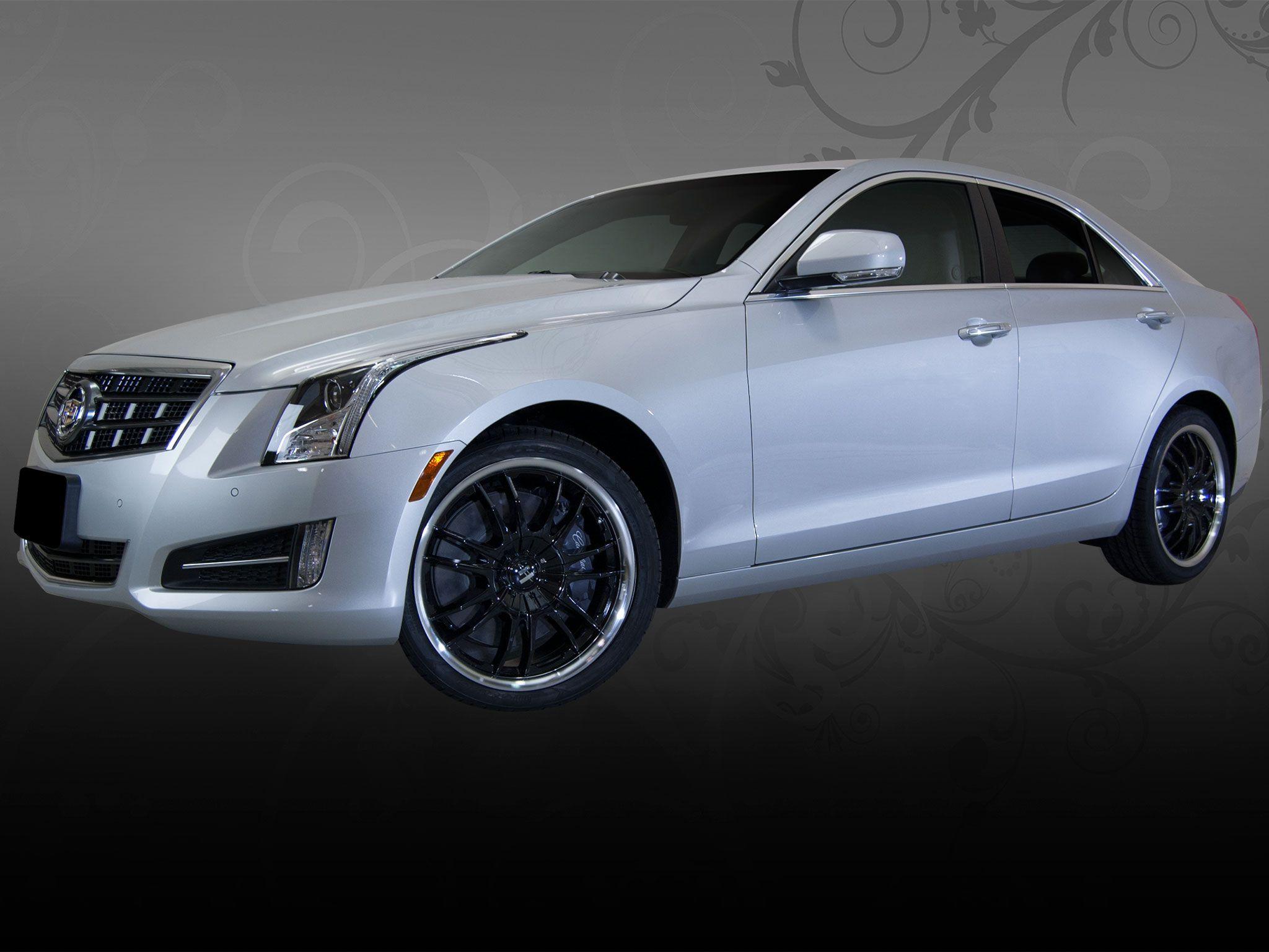 Cadillac Xts Custom Rims Cadillac Ats With Custom Helo Black
