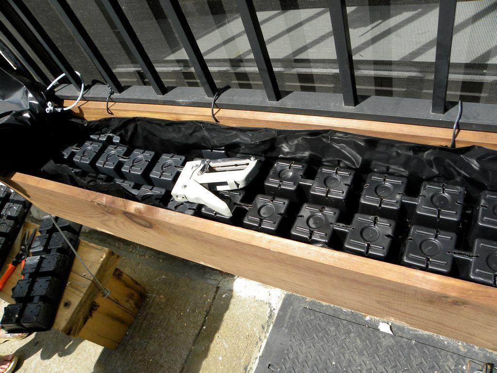 Brooklyn pie shop window boxes subirrigated