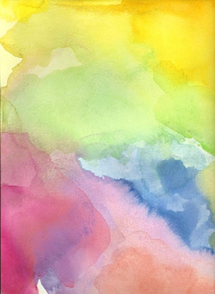 Watercolor Painting Abstract Art Meeting Ground Watercolor