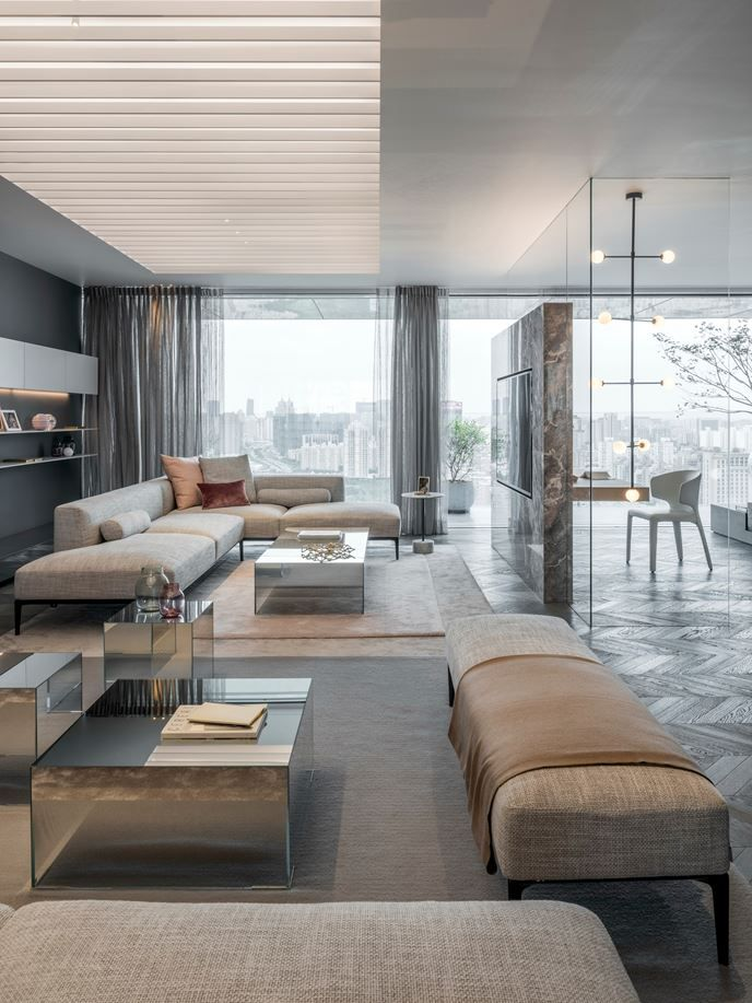 Design 3 People Room: Show Apartments 'Shades Of Grey'