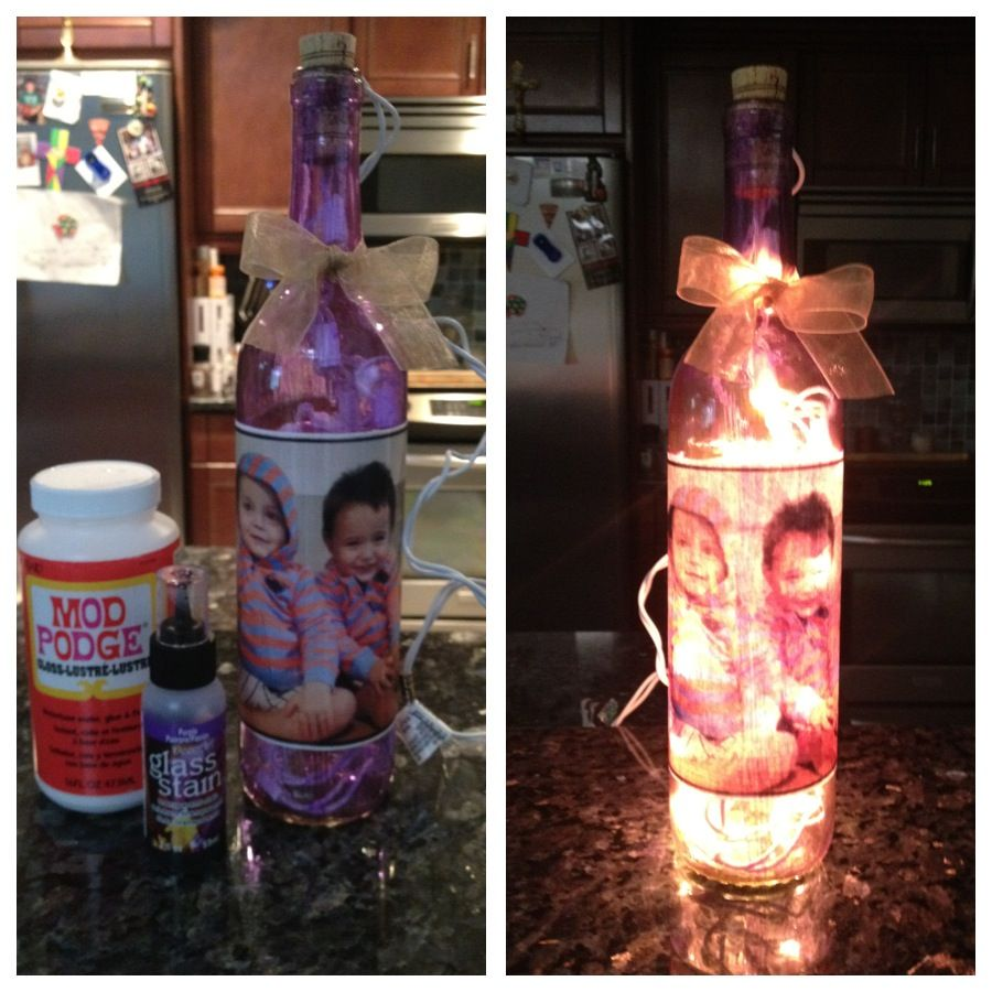 Make Your Own Wine Bottle Night Light Just Use Stained Glass Paint