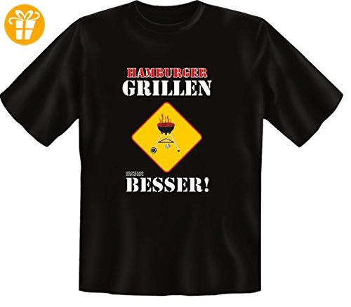 T-Shirt Funshirt Geschenk zum Geburtstag Hamburger Grillen Besser Sprüche  Shirt (*Partner-