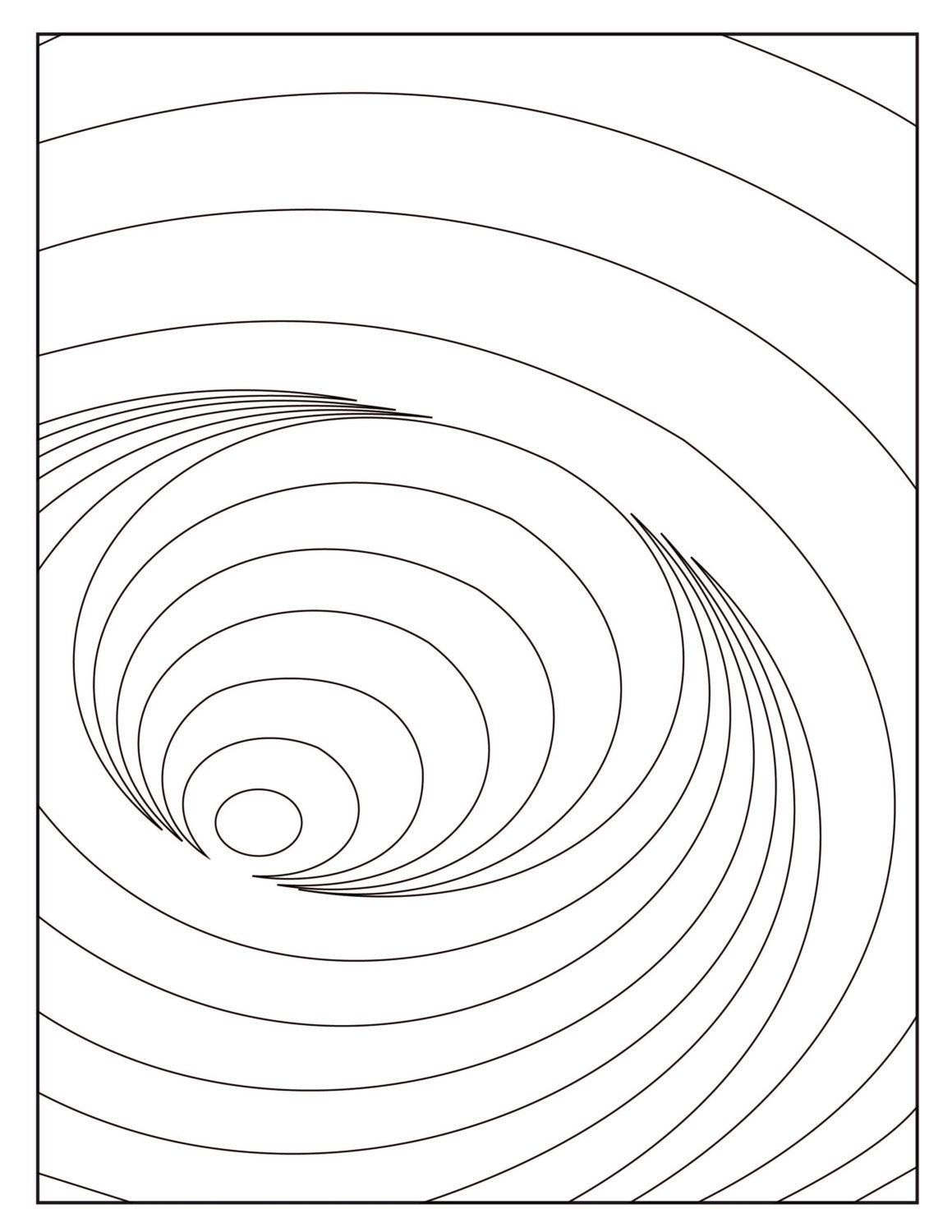 Digital Optical Illusion 4 Coloring Page By