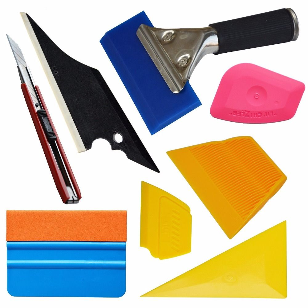 Car Window Film Installation Tools Kit Trim Handled Rubber Squeegee 3m Felt Edge Squeegee Mini Scraper Car Home Tint Set Tk01 Us