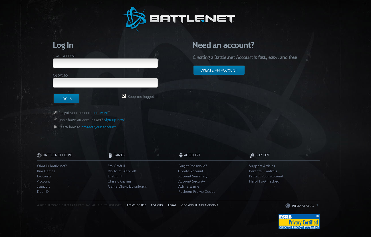 Web2Secure: Web Security Blog: Blizzard Battlenet Phishing Sites