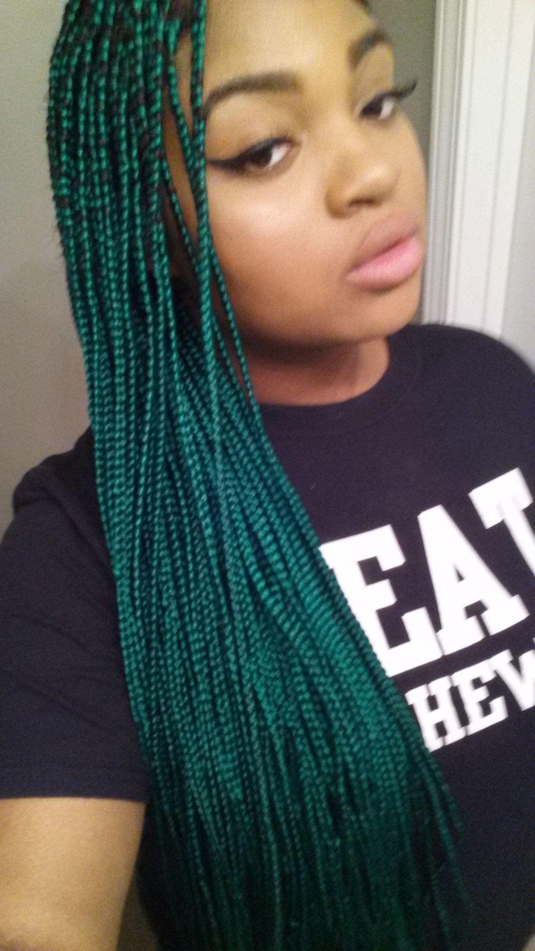 Green Box Braids Black Pinterest Tresses Vert Et Bo 238 Tes