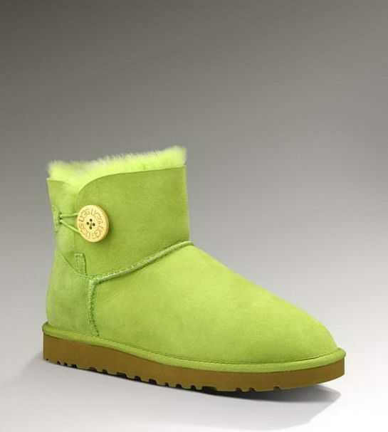 【Good quality UGG 】As long as 5 fold。 You're Worth It! Ugg 3352 Bailey Button Mini Boots Green UK only $123.83