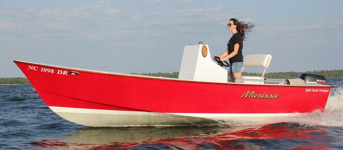5.2m plywood home built skiff. - economical to build, and run (max