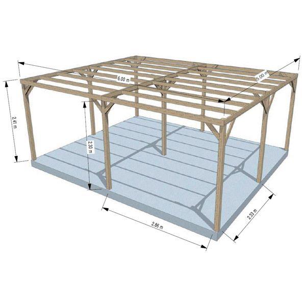 carport fait maison attrayant pergola bois fait maison abri piscine cuisine et salon dt with. Black Bedroom Furniture Sets. Home Design Ideas
