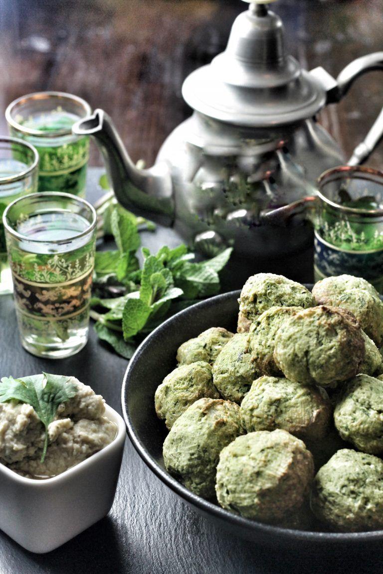 Falafel aus dem Backofen mit Baba Ganoush | Mein wunderbares Chaos