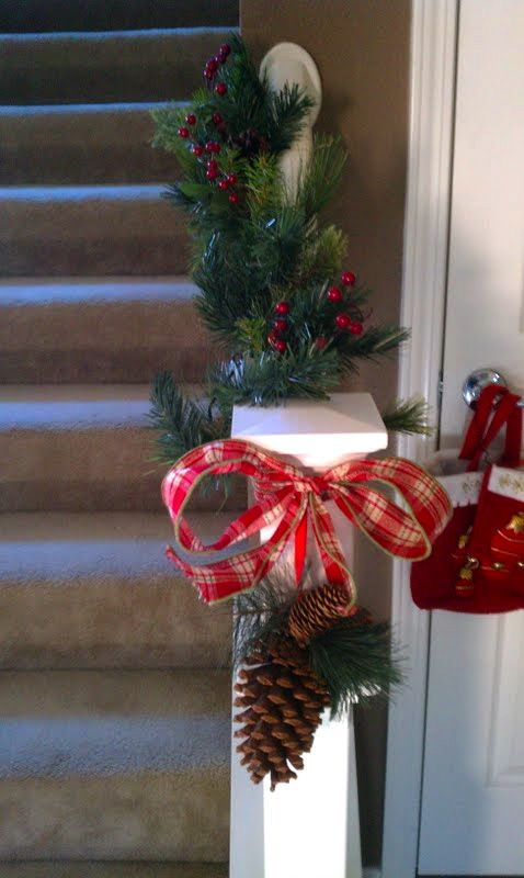 Cute stairs decorations The family I nanny for had this on their