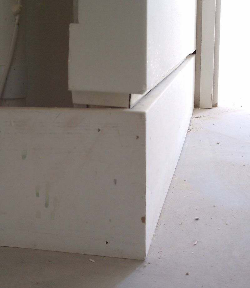 Drywall Casing Bead : Mdf baseboard detail shadow bead and drywall