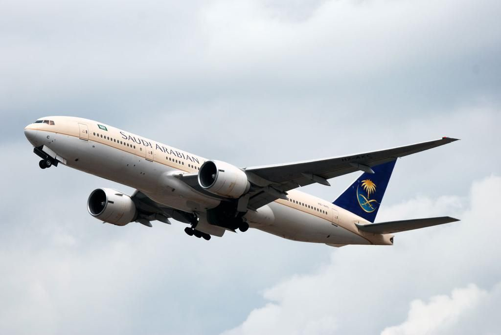 Saudia Boeing 777 taking off