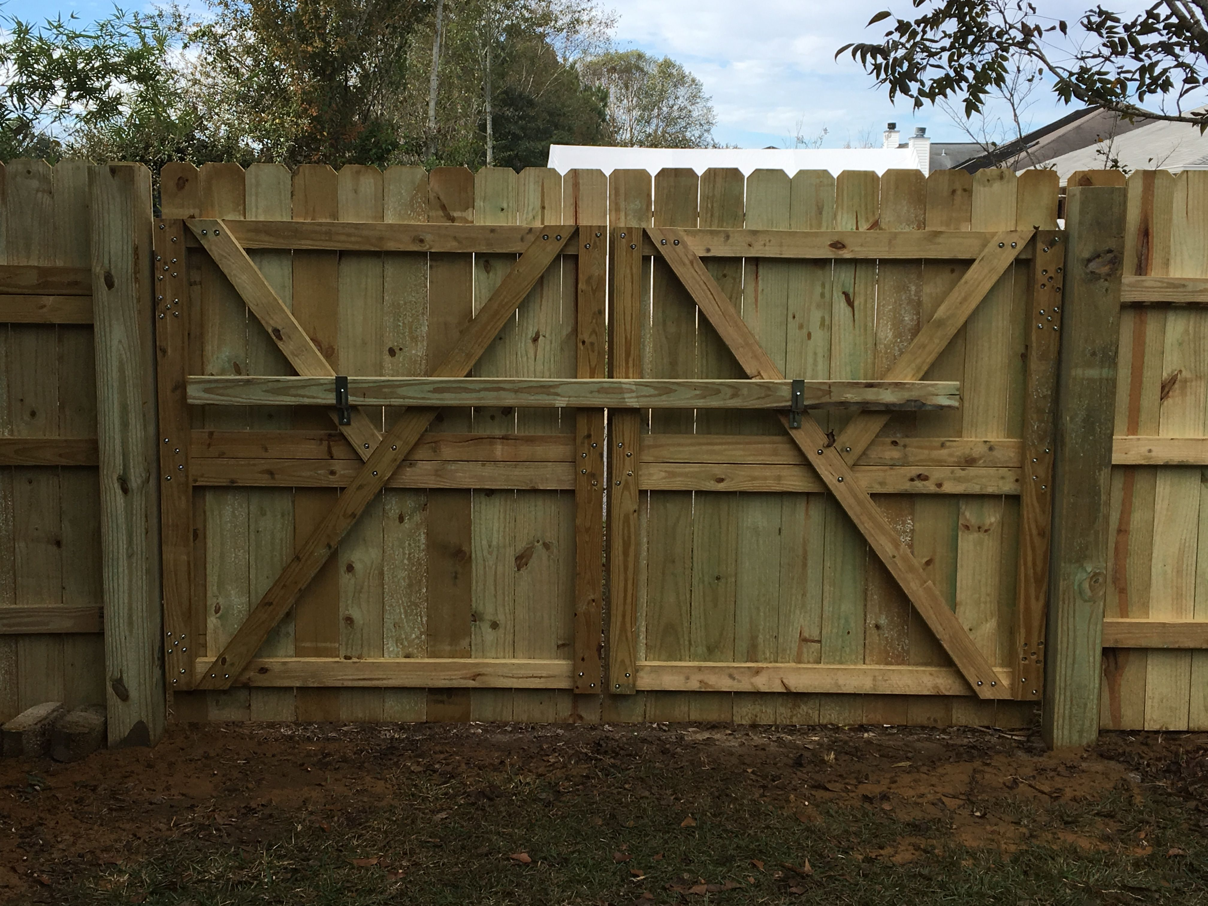 9 Foot Wide Double Gate For Backyard Fence