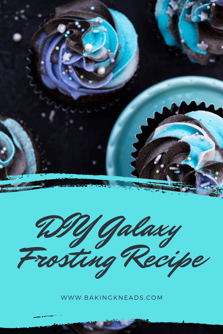 DIY Galaxy Frosting Recipe Looking for a fun, creative, and unique way to top off your cake or cupcakes? This DIY galaxy frosting recipe should do the trick! Create an amazing looking frosting full of color that will catch the attention of all of your guests!